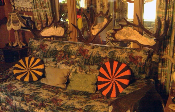 Inside Bill Steckman's cabin