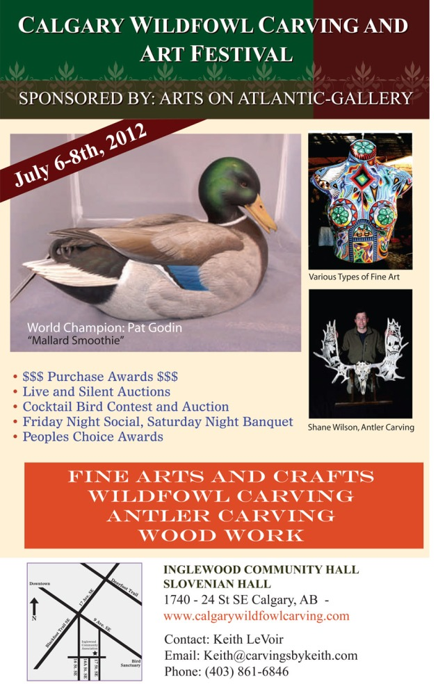 Calgary Wildfowl Carving and Arts Festival - July 6-8, 2012