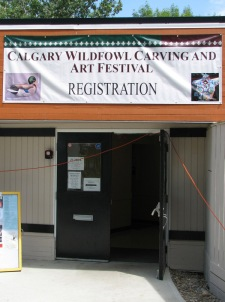 Calgary Wildfowl Carving and Art Festival - Banner and Entrance