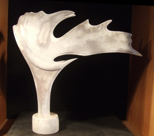 'Caribou Shovel Bird 1' (carved caribou antler) by Maureen Morris