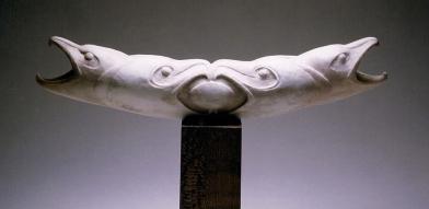 'Four Hooked Beaked Birds' (carved caribou antler) by Maureen Morris
