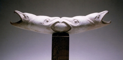 'Four Hooked Beaked Birds' (carved caribou antler) by Maureen Morris