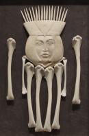 'Queen of Bones' (carved moose antler assemblage) by Maureen Morris