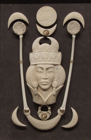 'Queen of the Cosmos' (carved antler assemblage) by Maureen Morris