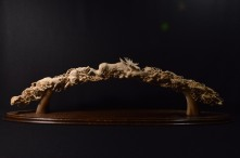 Moose and Wolves (mammoth tusk) by Dmitry Gorodetsky