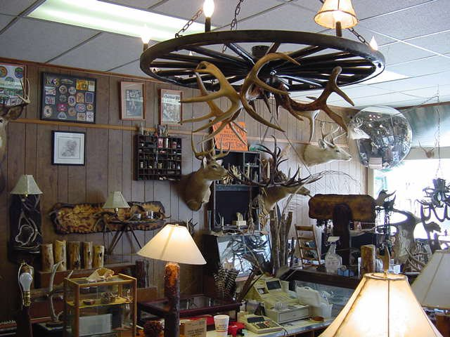Inside Jack Brown's studio/gallery, Stones & Bones - Allegany Arts and Antiquities, Scio, N.Y. USA