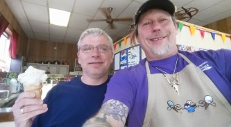 Jack Brown, ice cream king of Scio, N.Y.!