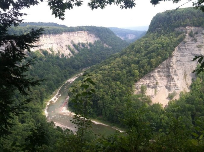 Genesee River flowing through Letchworth State Park, New York State, USA
