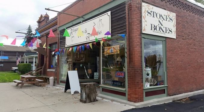 Jack Brown's studio/gallery, called Stones & Bones - Allegany Arts and Antiquities, Scio, N.Y. USA