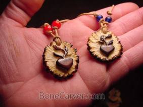 Jack Browns carved 'Love Seeds' necklaces