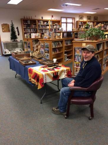 Jack Brown at the First Annual Scio Library Arts and Crafts Show, 2016